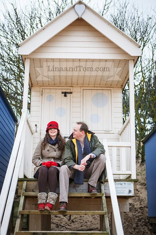 Wells-next-the-Sea Beach Huts Pre-Wedding Shoot