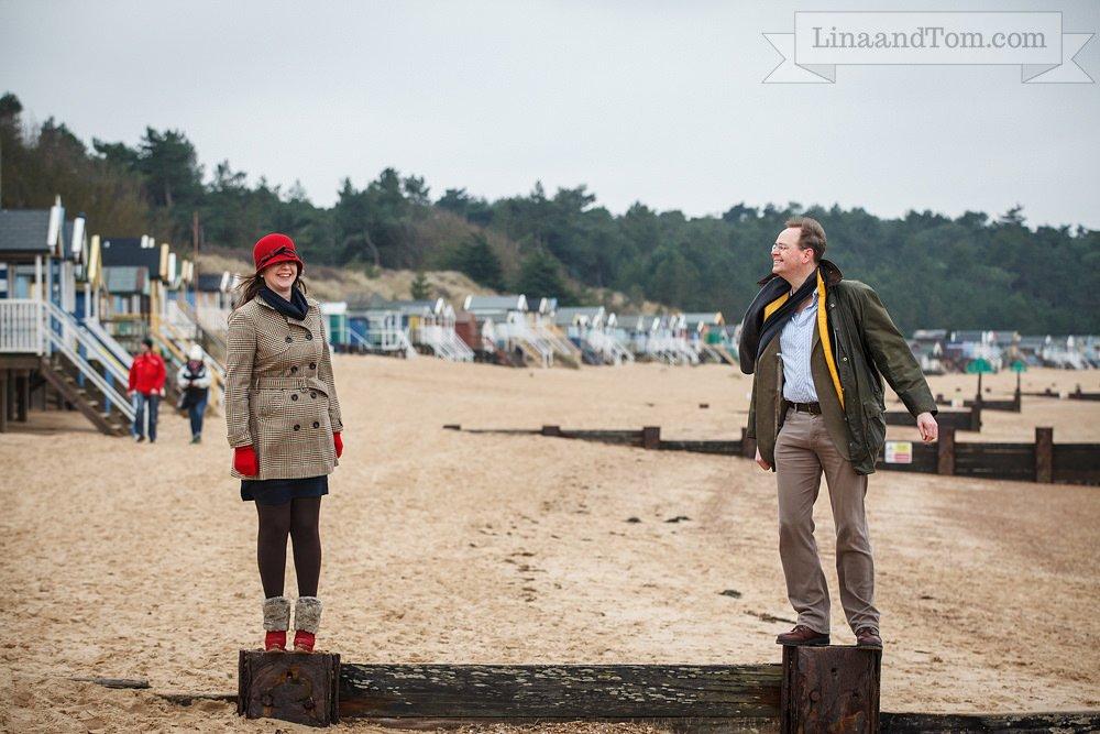 Wells-next-the-Sea Beach Pre-Wedding Shoot