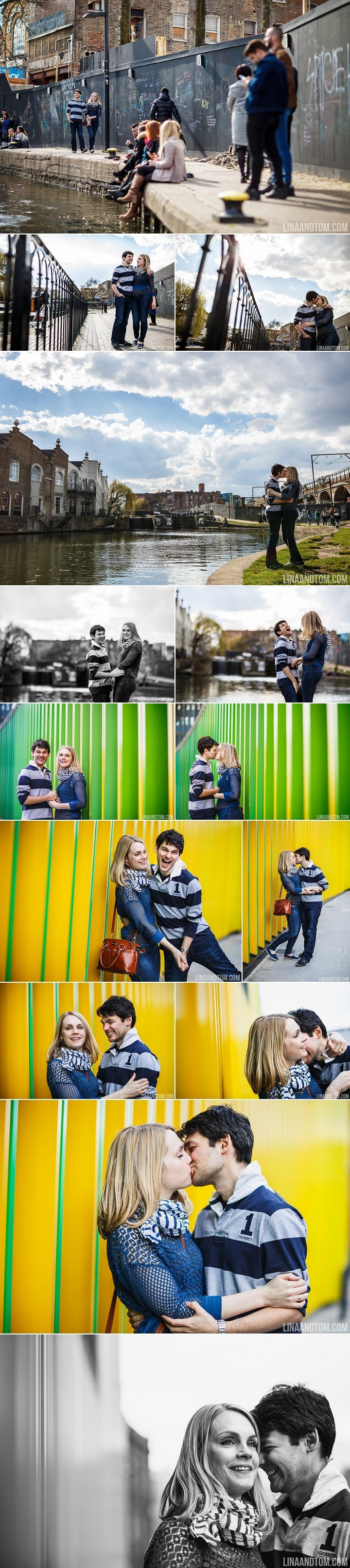 colourful camden pre wedding shoot