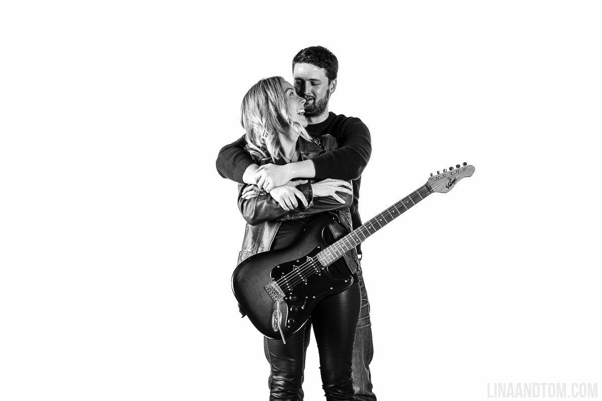 Springsteen inspired engagement shoot