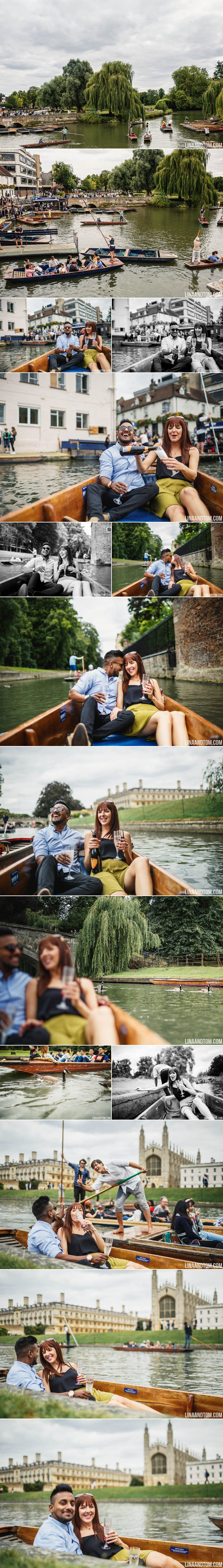 Cambridge Punting Pre-Wedding Shoot