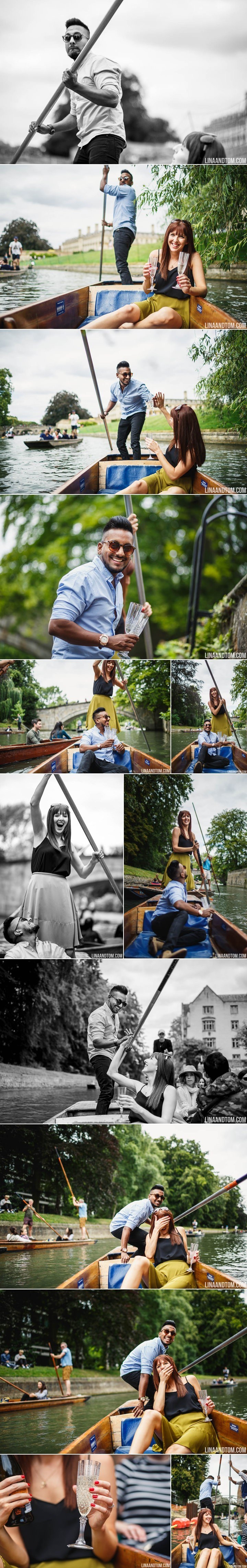 Cambridge Punting Pre-Wedding Shoot Engagement