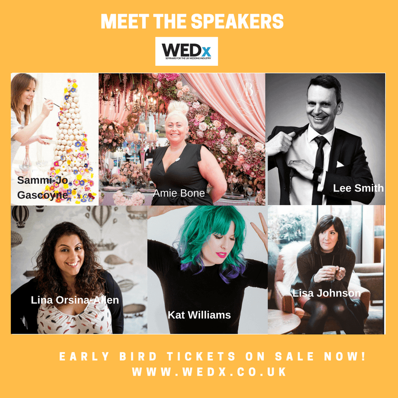 WEDx May 2017 Speakers - seminars for the wedding industry