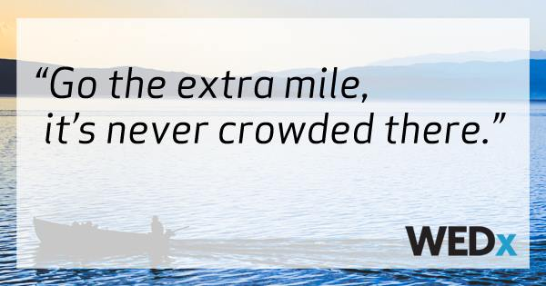 WEDx Go the Extra Mile - seminars for the wedding industry