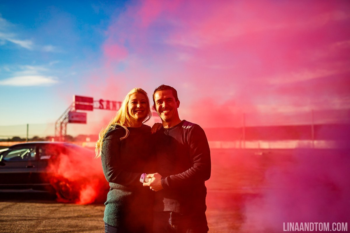 drifting engagement shoot