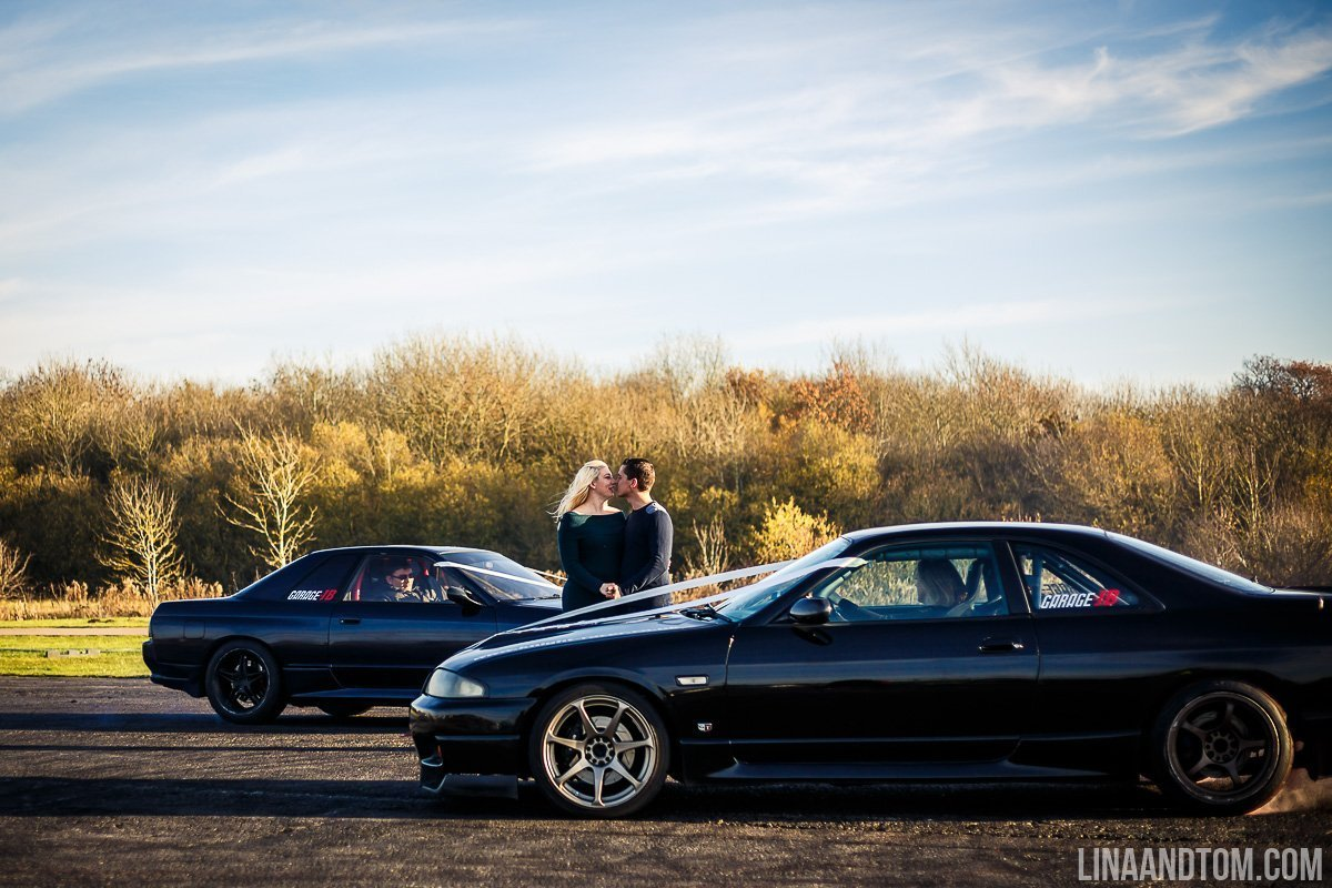 santa pod engagement shoot