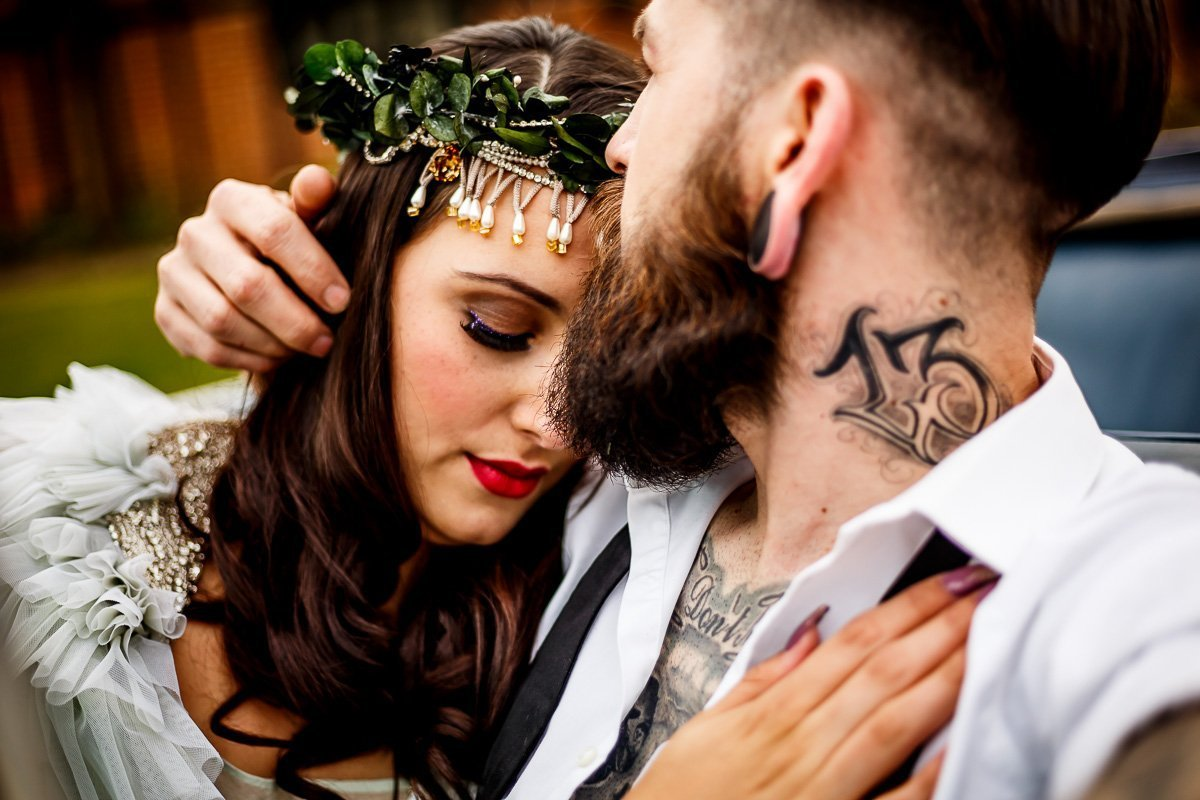 Cuban Dreams styled wedding shoot - Four Counties Wedding Award Winners - LinaandTom.com Alternative bride and groom