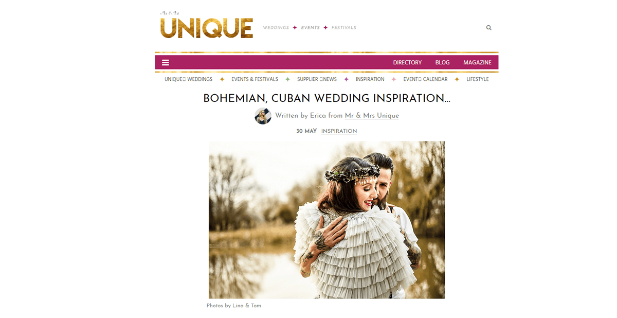 Mrs and Mrs Unique Blog Cuban Wedding Inspiration
