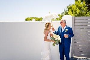 Father of the bride and the bride - Ibiza destination wedding