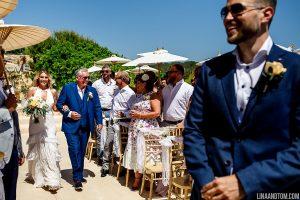Groom's first look - Ibiza destination wedding
