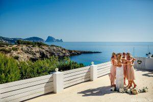 Bridesmaid and the bride - Ibiza destination wedding at Elixir