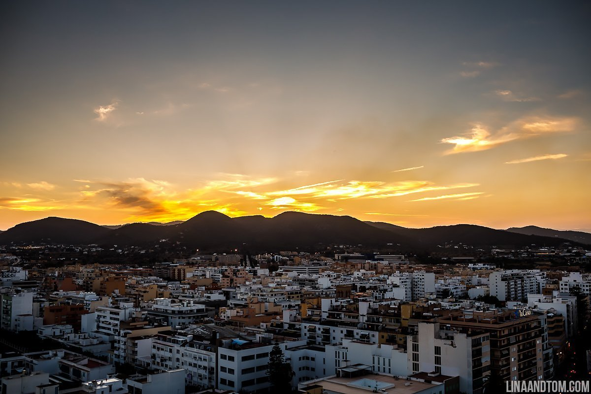 Sunset in Ibiza Town