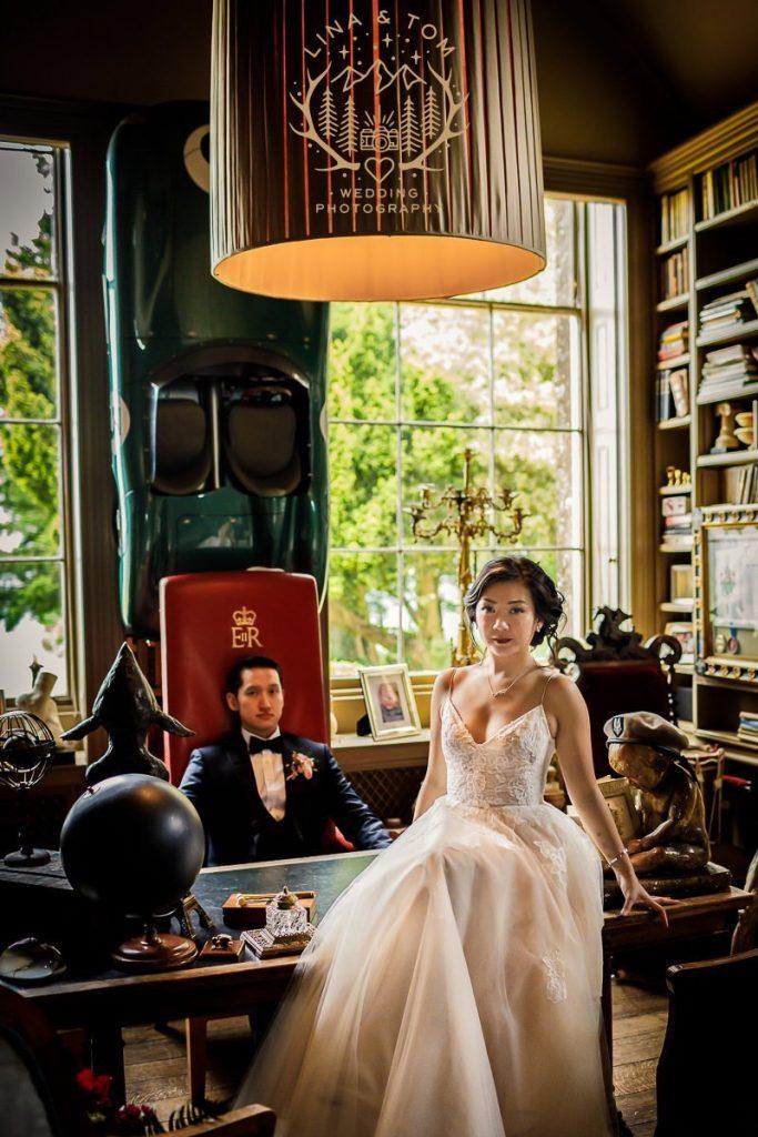 Aynhoe Park destination wedding photographers - Kim and David's wedding