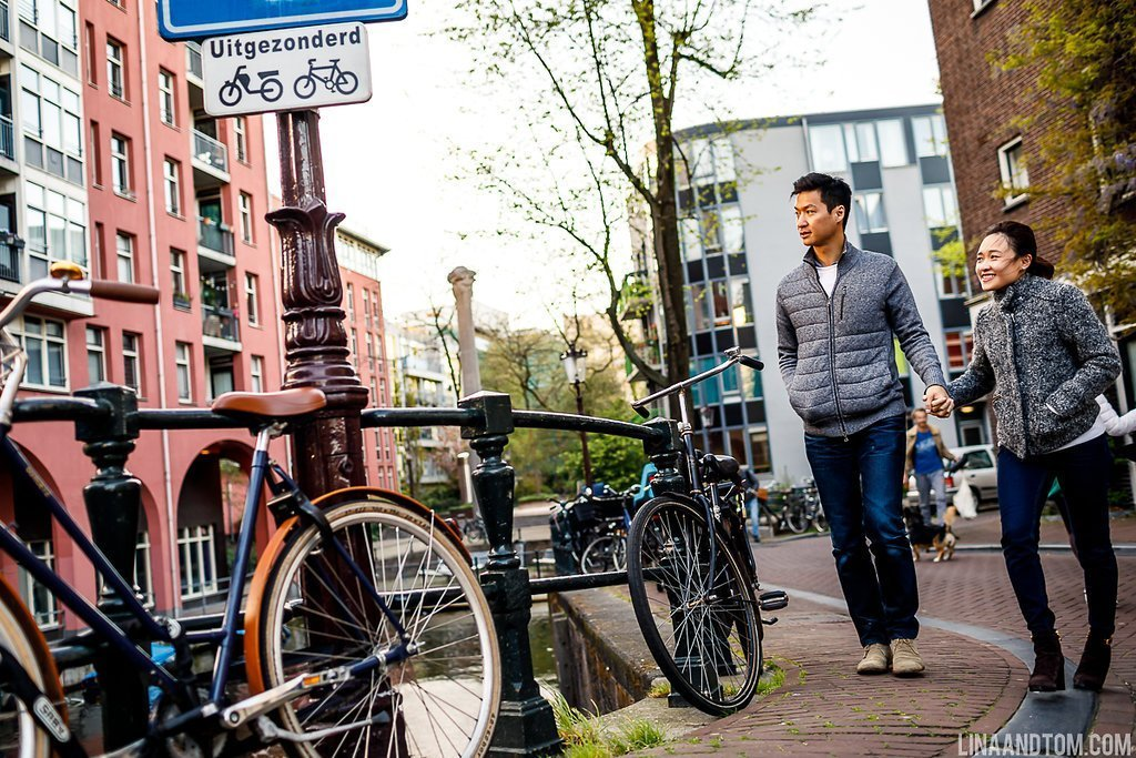 Amsterdam canals - engagement shoot ideas