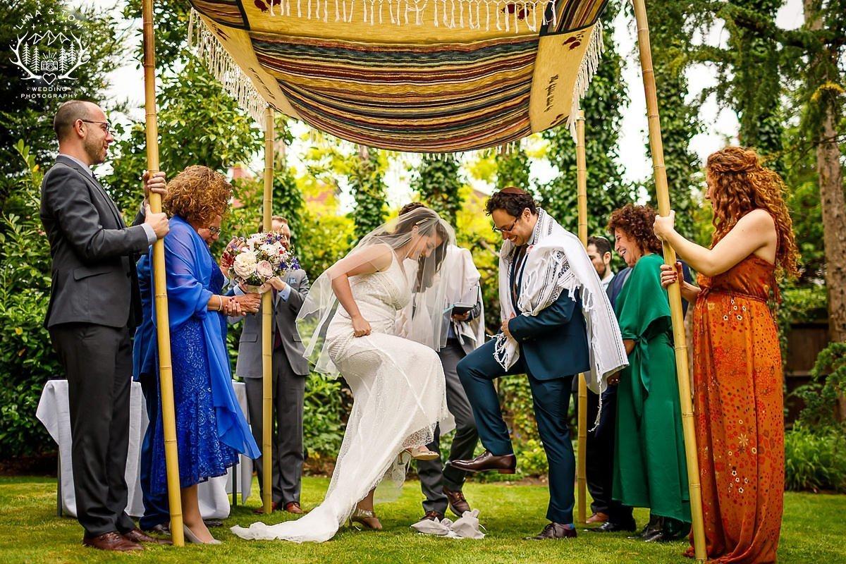 Natasha and Jacob - Smashing the Glass Wedding Jewish Photography